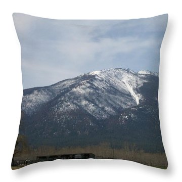 The Longshed Throw Pillow by Jewel Hengen