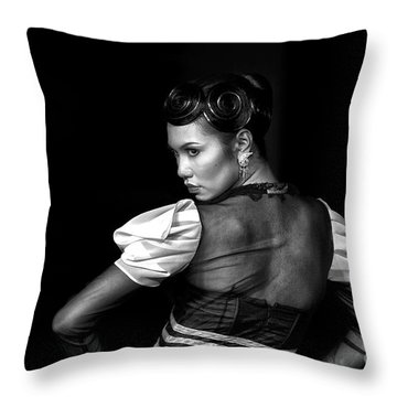 The Look Throw Pillow by Charuhas Images