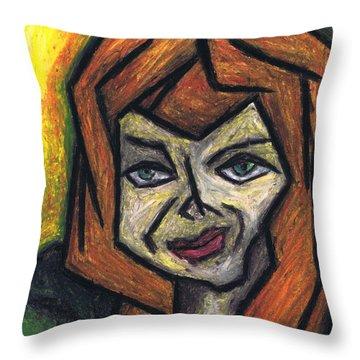 The Look Throw Pillow by Kamil Swiatek