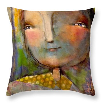 The Look Of Hope Throw Pillow