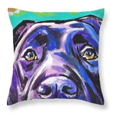 The Look Of Lab Throw Pillow