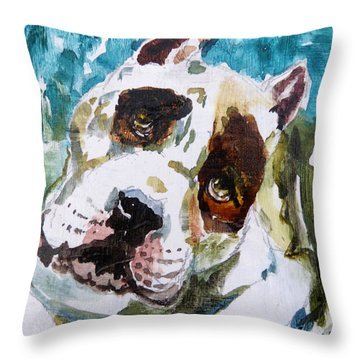 Throw Pillow featuring the painting The Look Of Love by P Maure Bausch