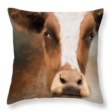 Throw Pillow featuring the photograph The Look by Robin-Lee Vieira