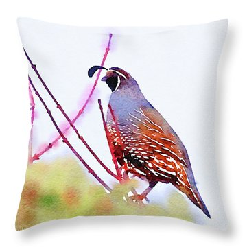 The Lookout Throw Pillow by Michele Ross