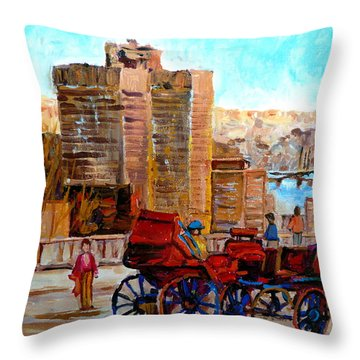 The Lookout On Mount Royal Montreal Throw Pillow by Carole Spandau