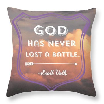 """the Lord Is My Strength And My Throw Pillow"