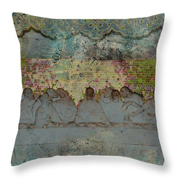 The Lords Table Throw Pillow