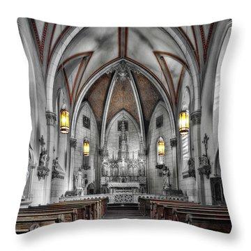 The Loretto Chapel In Santa Fe, New Mexico Throw Pillow