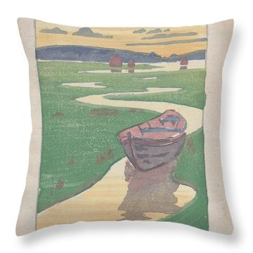 The Lost Boat , Arthur Wesley Dow Throw Pillow