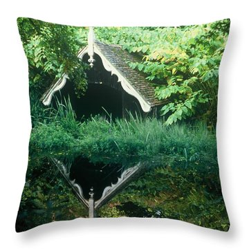 The Lost Boat House   Throw Pillow