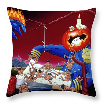 Throw Pillow featuring the painting The Lost Revolution by Paxton Mobley