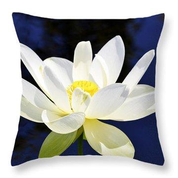 The Lotus  Throw Pillow