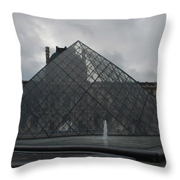 Throw Pillow featuring the photograph The Louvre And I.m. Pei by Christopher Kirby