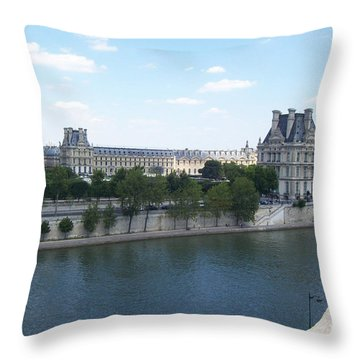 The Louvre Throw Pillow
