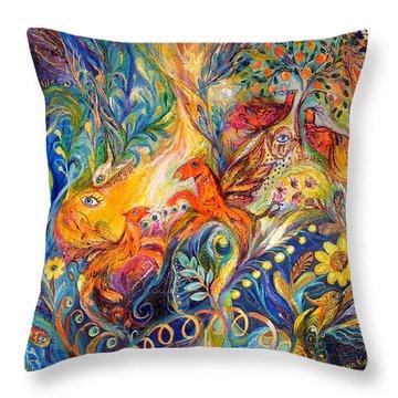 The Love Dance Throw Pillow by Elena Kotliarker