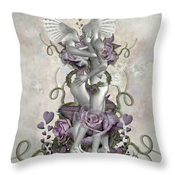 The Love Of The Two Souls Throw Pillow by Ali Oppy