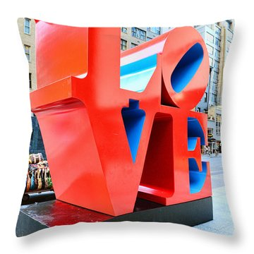 The Love Sculpture Throw Pillow by Paul Ward