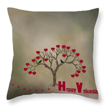 Throw Pillow featuring the photograph The Love Tree by Darren Fisher