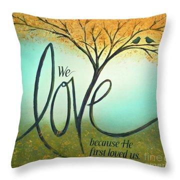 The Love Tree Throw Pillow