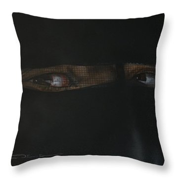 Throw Pillow featuring the painting The Lovely Bride Hyphemas Portrait by Eric Dee