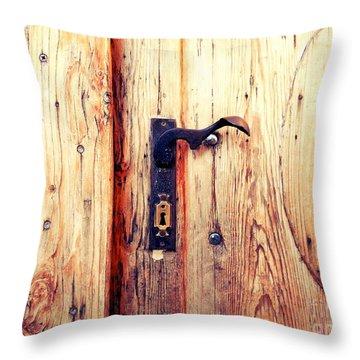 The Lovely Door Handle Throw Pillow