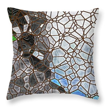 Throw Pillow featuring the digital art The Lovely Spider by Wendy J St Christopher