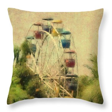 The Lover's Ride Throw Pillow by Trish Tritz