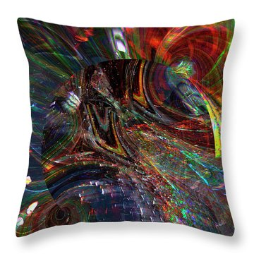 The Lucid Planet Throw Pillow by Richard Thomas