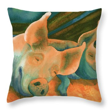 The Lucky Ones Throw Pillow by Tracy L Teeter
