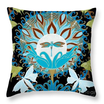 The Luna Moth Journey Of Faith And Love Throw Pillow