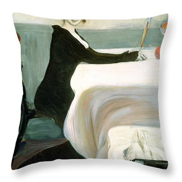 The Luncheon Throw Pillow by Leon Bakst