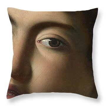 The Lute Player   Detail Throw Pillow