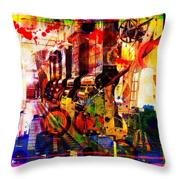 The Machine Age Throw Pillow