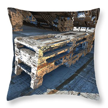 The Machine Throw Pillow by Hal Tenny