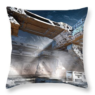 The Machine Room Throw Pillow