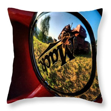 The Mack Truck Throw Pillow by Linda Unger