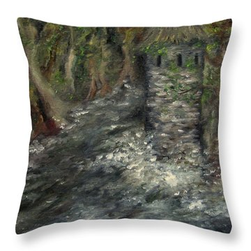The Mage's Tower Throw Pillow
