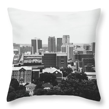 Throw Pillow featuring the photograph The Magic City In Monochrome by Shelby Young