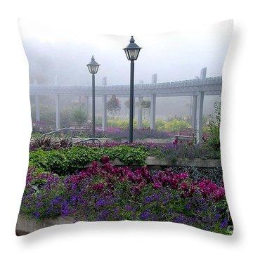 The Magic Garden Throw Pillow by Susan  Dimitrakopoulos
