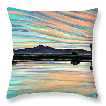 The Magic Is In The Water Throw Pillow