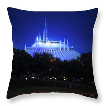Throw Pillow featuring the photograph The Magic Kingdom Entrance by Mark Andrew Thomas
