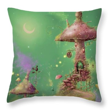 The Mushroom Gatherer Throw Pillow