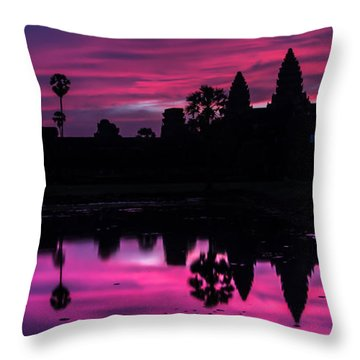 The Magic Of Angkor Wat Throw Pillow