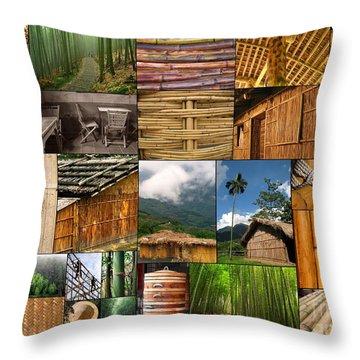 The Magic Of Bamboo Throw Pillow by Yali Shi