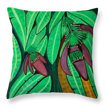 The Magic Of Banana Blossoms Throw Pillow