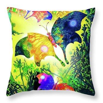 The Magic Of Butterflies Throw Pillow