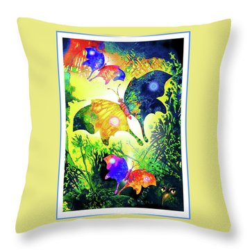 The Magic Of Butterflies Throw Pillow by Hartmut Jager