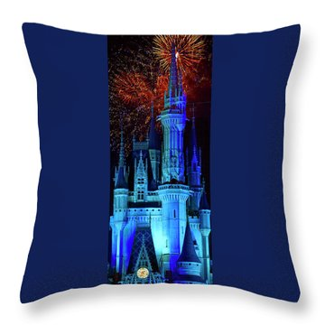 The Magic Of Disney Throw Pillow by Mark Andrew Thomas