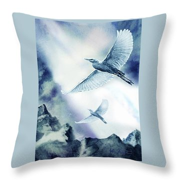The Magic Of Flight Throw Pillow by Hartmut Jager