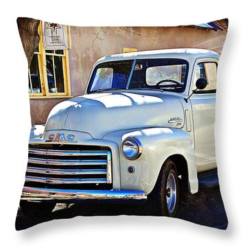 Throw Pillow featuring the photograph The Magic Of The 1949 Gmc 100 by Barbara Chichester
